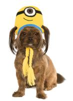 Minion Stuart Knit Dog Headpiece, Medium/Large