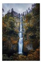Multnomah Falls, Oregon - Epic View of the Waterfall in Autumn with Colorful Trees 9014340 (Premium 1000 Piece Jigsaw Puzzle for Adults, 19x27, Made in USA!)