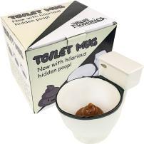 Fairly Odd Novelties FON-10236 Ceramic Toilet Coffee Mug - Now With Hidden Poop 11-Ounces, White