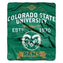 "Officially Licensed NCAA Label Plush Raschel Throw Blanket, 50"" x 60"", Multi Color"