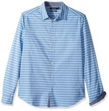 Nautica Long Sleeve Classic Fit Stripe Button Down Shirt