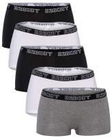 B2BODY Cotton Underwear Women - Boyshort Panties for Women Small to Plus Size 5 Pack