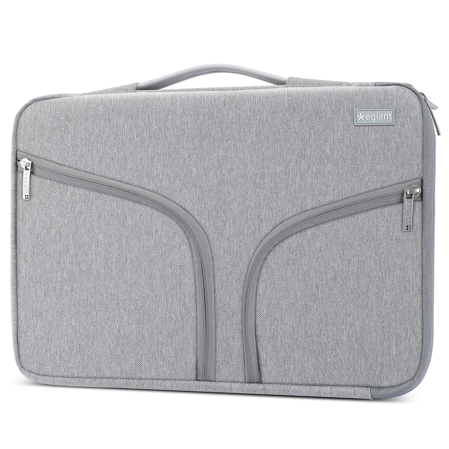 Egiant Laptop Sleeve Protective Padded Case with Shockproof Bubbles Compatible 15 Inch Mac Pro Retina, Mac Pro 15 Touch Bar A1707,Chromebook 14,Surface Book 2,14 Inch Water-resistant Notebook Bag,Grey