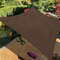 iCOVER Sun Shade Sail Canopy, 185GSM Fabric Permeable Pergolas Top Cover, for Outdoor Patio Lawn Garden Backyard Awning, 12'x16', Brown
