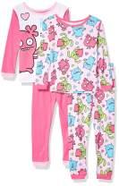 UGLYDOLLS Girls' Ugly Dolls 4-Piece Cotton Pajama Set
