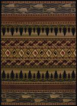 United Weavers of America Affinity Collection River Ridge Indoor Rug - 1ft. 10in. x 3ft., Multicolor, Machine Made Rug with Jute Backing