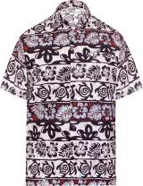 LA LEELA Men's Vacation Outwear Dress Short Sleeve Hawaiian Shirt