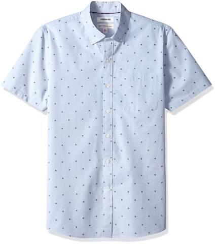 Amazon Brand - Goodthreads Men's Standard-Fit Short-Sleeve Plaid Poplin Shirt