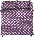 Lux Decor Collection Bed Sheet Set - Brushed Microfiber 1800 Bedding - Wrinkle, Stain and Fade Resistant - Hypoallergenic - 3 Piece (Twin, Quatrefoil Purple)