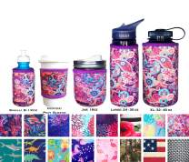Koverz Neoprene 12 oz. Can/Bottle Coolie Insulator - Choose Your Style! - Paisley