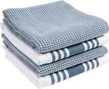 KAF Home Kitchen Towels, Set of 4 Absorbent, Durable and Soft Towels   Perfect for Kitchen Messes and Drying Dishes, 18 x 28 – Inches, Blue