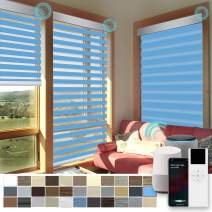 """High Precision Customized color &Size Motorized Window Roller Zebra Shades/Blinds with Built-in Battery, Guaranteed Accuracy in 0.1"""", Available for Smart Homes, Size range: Width 19.5-24""""Height 72-96"""""""