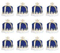 Beistle 66109-B 12-Pack Royal King's Crown, Blue