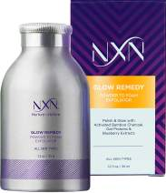 NxN Glow Remedy Powder-to-Foam Exfoliating Face Wash - Cleansing Scrub with Vitamin E, A (Retinol) & Grapeseed Oil, for All Skin Types