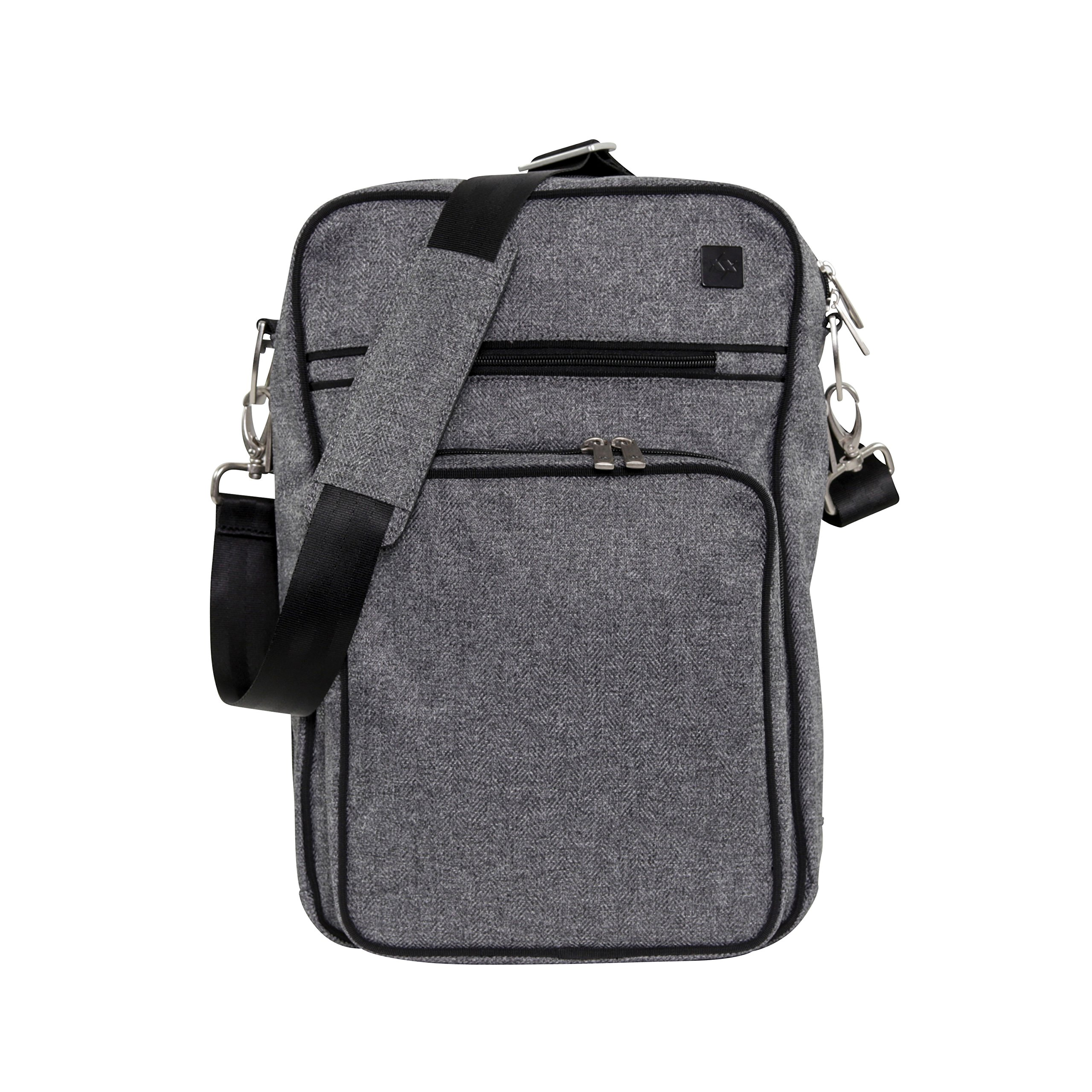JuJuBe Helix Multi-Functional Crossbody Messenger/Diaper Dad Bag, XY Collection - Gray Matter
