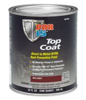 POR-15 46704 Top Coat Red Oxide Paint, 32. Fluid_Ounces