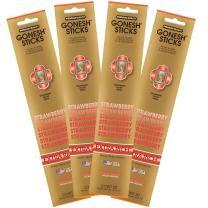 Gonesh Collection Strawberry – 4 Pack-Extra Rich Incense, 80 Count