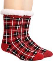 Womens Fuzzy Slipper Socks Warm Heavy Thick Fleece lined Fluffy Christmas Stockings Winter Socks