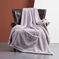 FFLMYUHUL I U Ultra Super Soft Lightweight Cozy Throw Blanket for Bed Couch Warm Fuzzy Sherpa Blanket/Throw Blanket for Shower Gift 50'' X 70'' Purple