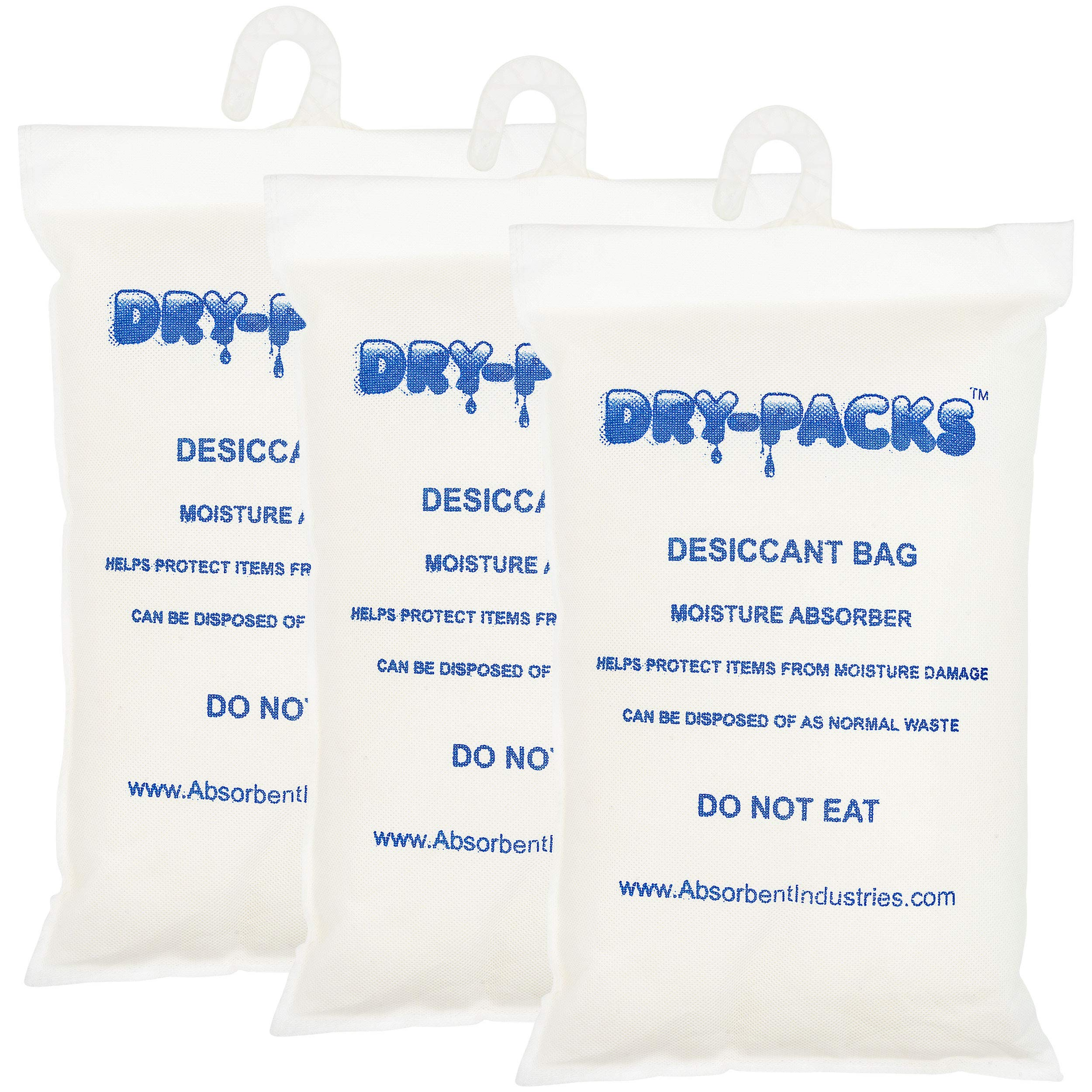 Dry-Packs 4.5 lbs Container & Cargo Desiccant W/ Hook, Pack of 3