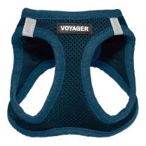 """Voyager Step-in Air Dog Harness - All Weather Mesh, Step in Vest Harness for Small Dogs and Cats by Best Pet Supplies - Prussian Blue, XX-Small (Chest: 10.5"""" - 13"""")"""