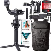 DJI RSC 2 Gimbal Handheld 3-Axis Stabilizer for DSLR and Mirrorless Cameras Bundle with 1YR Extended Coverage + Deluxe Active Travel Backpack + 64GB microSD Card + Photo Video Studio Software Kit