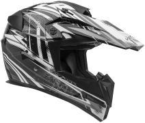 Vega Helmets MIGHTY X Kids Youth Dirt Bike Helmet – Motocross Full Face Helmet for Off-Road ATV MX Enduro Quad Sport, 5 Year Warranty  (Black Blitz Graphic,Small)