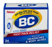 BC Powder | Fast Pain Relief | Aspirin (NSAID) & Caffeine | 24 Count | Packaging May Vary