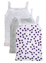 Feathers Girls Cherry Print Set Tagless Cami Super Soft Undershirts (3/Pack)