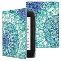 Fintie Folio Case for Kindle Paperwhite (Fits All-New 10th Generation 2018 / All Paperwhite Generations) - Book Style Vegan Leather Shockproof Cover with Auto Sleep/Wake, Emerald Illusions