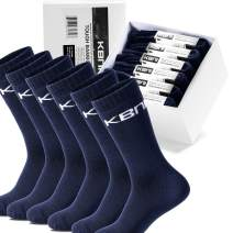 Bamboo Hiking Socks for Men,1/6 Pairs Heavy Duty Thick Sport Work Athletic Socks