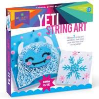 Craft-tastic - String Art Kit - Craft Kit Makes 2 String Art Canvases - Yeti & Snowflake Patterns