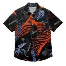 FOCO Floral Tropical Button Up Shirt Baltimore Ravens SMU Floral Button UP Shirt - Mens Large