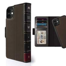 Twelve South BookBook for iPhone 11 | 3-in-1 Leather Wallet Case with Display Stand and Removable Magnetic Shell (Brown)