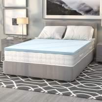 Flash Furniture Capri Comfortable Sleep 2 inch Cool Gel Memory Foam Mattress Topper - Full