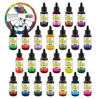 My Slime 24 Color Premium Slime Coloring Set, Large 20 ml Bottles - Non-Toxic Dyes, Works in White & Clear Slime Making Glues, Soaps - Color Mixing Wheel