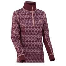 Kari Traa Women's Lune Base Layer Top - Half Zip Synthetic Thermal Shirt