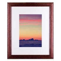 Craig Frames Wiltshire 236, Simple Red Hardwood Picture Frame with Single White Mat - Displays a 16 x 20 Inch Print with the Mat or 20 x 24 Inch without the Mat