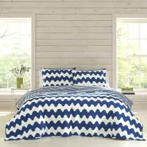 Marimekko Pikku Lokki Quilt Set, King, Blue