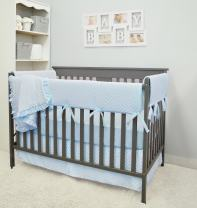 American Baby Company Heavenly Soft 6 Piece Crib Rail Bedding Set, Blue, for Boys and Girls