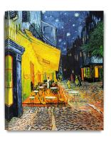 DECORARTS - Cafe Terrace at Night, Vincent Van Gogh Art Reproduction. Giclee Canvas Prints Wall Art for Home Decor 20x16 x1.5
