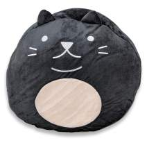 Adorable Large Stuffed Animal Plush Huggable Cat Pillow for Kids - Black