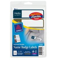 Avery Flexible Name Badge Labels, Assorted Colors, 1 x 3-3/4, Pack of 100 (5154)