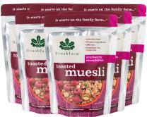 Brookfarm Toasted Macadamia Muesli Granola, 12.35-Ounce Bag (350g) - 6 Pack