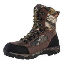 R RUNFUN Men's Waterproof Leather and Camo Outdoor Hunting Boot