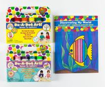 Do A Dot Art! Value Pack Set of 12 Washable Dot Markers. Includes 6 Rainbow Markers and 6 Brilliant Markers with Discovering My World Activity Coloring Book. The Original Dot Marker