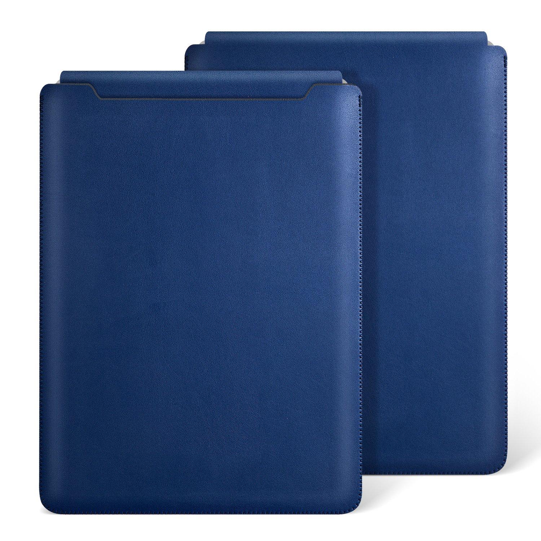Ayotu MacBook Air 11 inch Leather Sleeve Case,Waterproof Sleek Leather Soft Sleeve Case Cover Bag for MacBook Air 11 inch(A1370/1465) Royal Blue