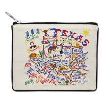 Catstudio Natural Texas Zipper Pouch & Coin Purse | Holds Your Phone, Pencils, Makeup, Dog Treats, Tech Tools | Great for Travel, Women, Men, Girls, Boys