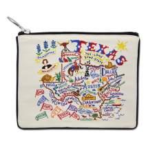 Catstudio Natural Texas Zipper Pouch & Coin Purse | Holds Your Phone, Pencils, Makeup, Dog Treats, Tech Tools | Great for Travel, Women, Men, Girls, Boys