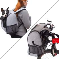 K&H PET PRODUCTS Travel Bike Backpack for Pets Gray 9.5 X 14 X 15.75 Inches